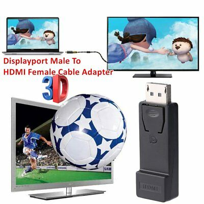 Displayport To HDMI Converter Adapter Displayport Male To HDMI Female Adapter BK