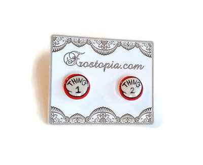 Dr. Seuss The Cat in the Hat Thing 1 & 2 Stud Earrings Metal Posts