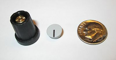 """1/8"""" Shaft Collet Knobs W/cap & Nut Cover 11 Mm Sifam  Sn110-125  Black  20 Pcs."""