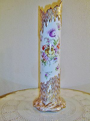 "16 3/4"" Tall Dresden Floral Tree Trunk Vase"