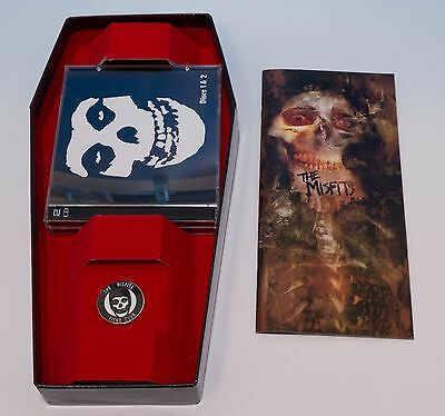 The Misfits Fiend Club Limited Edition 4 CD Coffin Box Set with Pin, Booklet
