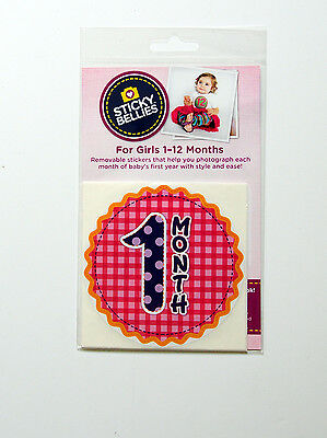 "Sticky Bellies Baby Month Stickers - ""Oh Sew Adorable"", NIP"