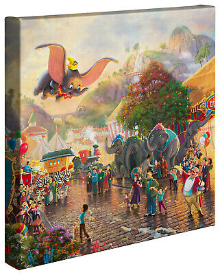 Thomas Kinkade Studios Disney Dumbo 14 x 14 Gallery Wrapped Canvas