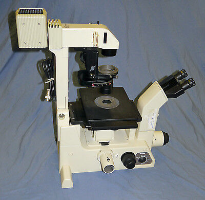 Nikon Diaphot 300 Inverted Phase Contrast Research Microscope 3 Objectives