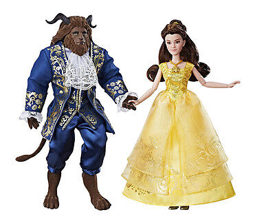 New Disney Movie Beauty and the Beast Grand Romance Belle Doll and Beast Figure