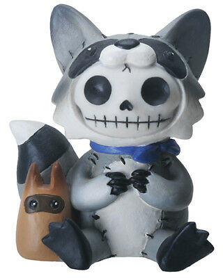 FurryBones Bandit Figurine Raccoon Skull Skeleton Gothic Cool Gift  Cute Fun Alt