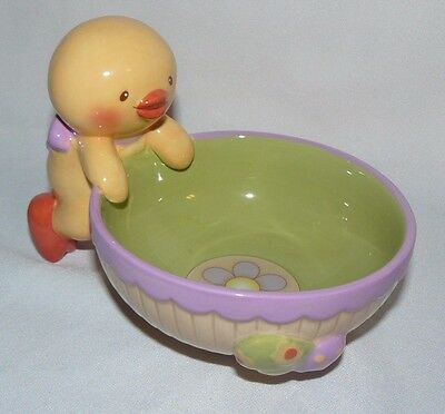 Russ Berrie US Gift Inc Chick Chicken Bowl Easter Candy Dish Excellent Condition