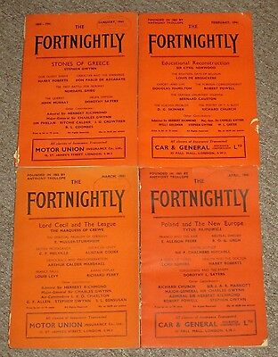 January February March & April 1941 Issues of The Fortnightly Magazine