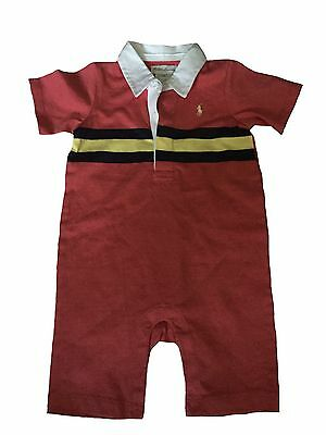 Ralph Lauren RL Girl Boy Baby's Baby 9 Months Cotton Coverall NEW Authentic