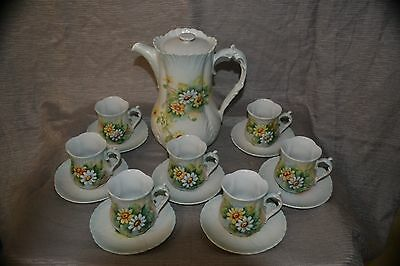 Vintage Hand Painted China Coffee Service