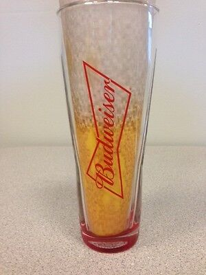 BUDWEISER RED BOTTOM 16OZ SIGNATURE GLASSES Case- 24 Glasses