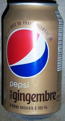 Pepsi Gingembre (Ginger) soda can from Canada 2016
