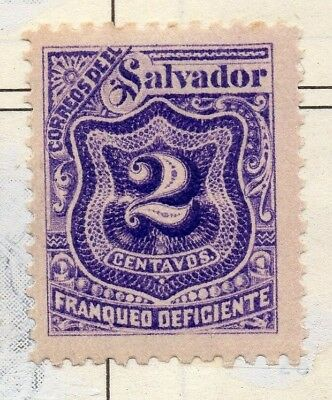 El Salvador 1898 Postage due  Issue Fine Mint Hinged 2c. 141220