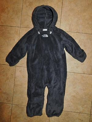 Infant Baby THE NORTH FACE Fleece Hooded SNOWSUIT Sz 6-12 Months