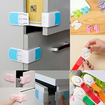 Safety Child Infant Baby Kids Drawer Door Cabinet Cupboard Toddler Locks