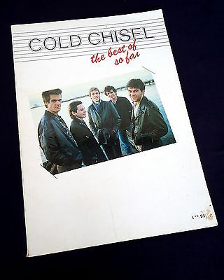 Cold Chisel-The Best Of So Far-1983 Sheet Music Songbook-Piano/Vocal/Guitar Tab