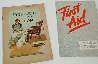 Vintage First Aid Books Collectible Metropolitan Life insurance Retro Home Lot