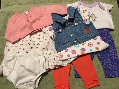 Lot Of 8 Pieces Baby Girls Size 0-3 Months
