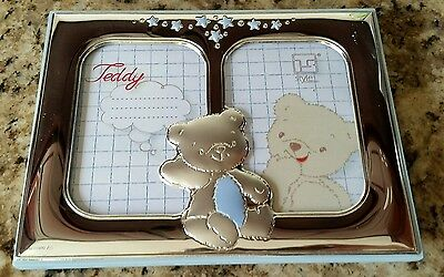 Adorable Baby Boy Picture Frame with Teddy Bear in Center - NWT