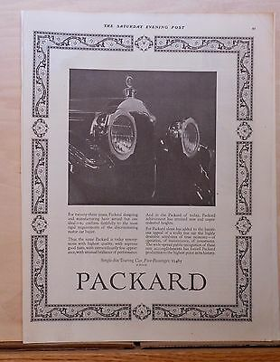 1923 magazine ad for Packard -  Single Six Touring Car front grille photo