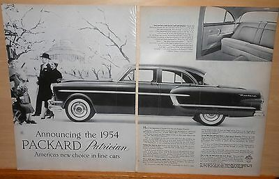 1954 two page magazine ad for Packard - Packard Patrician photos, new choice
