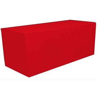 6' ft. Fitted Polyester Tablecloth Table Cover Wedding Banquet Party Red