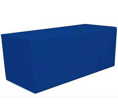 6' ft. Fitted Polyester Tablecloth Table Cover Wedding Banquet Party Royal Blue
