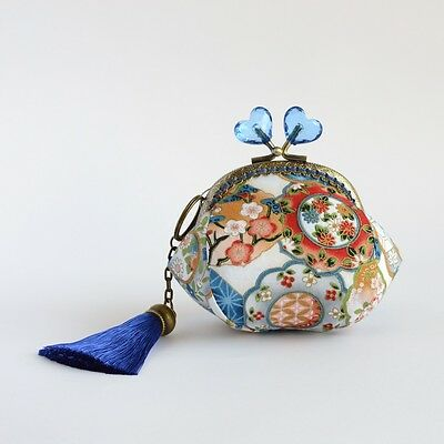 Hand crafted Japanese kimono fabric coin purse - collectable #0082