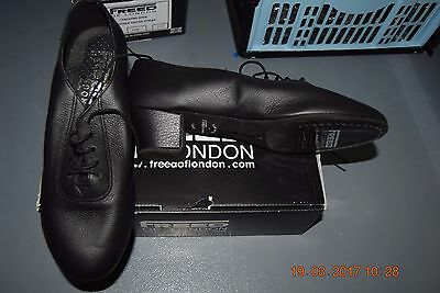 Black leather Freed Professional ballroom/latin dance shoes - size UK 7.5 wide