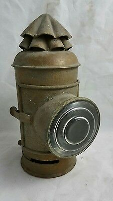 Antique WW2 ERA BOAT NAUTICAL SIGNAL LAMP LANTERN Brass Bronze vtg marine