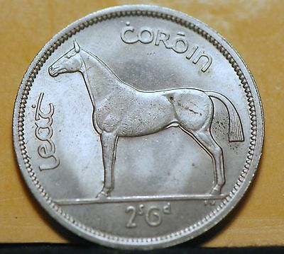 Ireland, 1963 1/2 Crown, KM16a, Horse, Uncirculated, #1                     8ngm