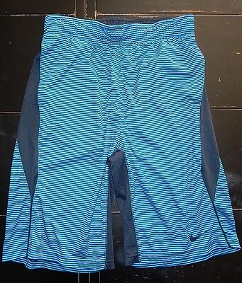 Nike Dri Fit Shorts Youth Boys L Blue Stripes Large