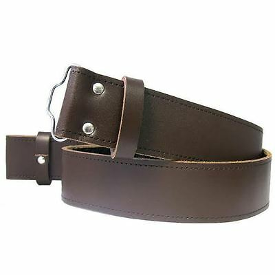 Scottish Brown Pure Leather Simple Kilt Belt Adjustable Sizes S,M,L,XL,2XL,3XL