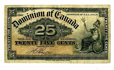 Canada ... P-9b ... 25 Cents  ... 1900 ... *F*