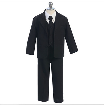 Formal Casual Boy Kids Children Suit in Black White khaki gray Set All Sizes
