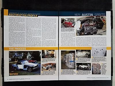 1971 Austin Sprite  - 4 Page Article - Free Shipping