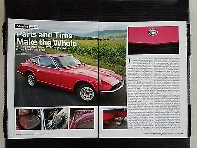 1972 Datsun 240Z  - 4 Page Article - Free Shipping