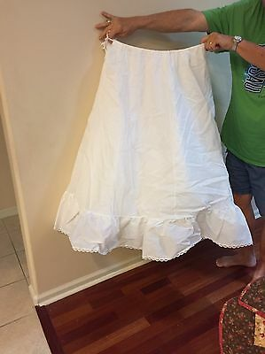 White NO-Hoop 3-layers Petticoat Wedding Crinoline,prom,Quincinera,Skirt Slip