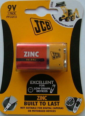 4 X Jcb 9V Pp3 6F22 Zinc Batteries Exp Date 2019 Buy For Only £2.49