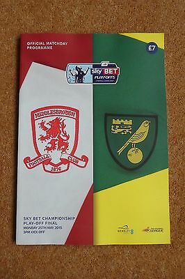 Norwich v Middlesbrough 2014-15 Play-Off Final Wembley