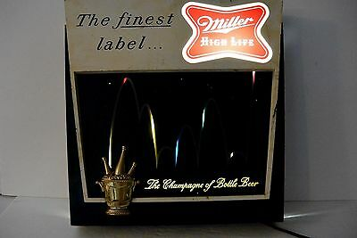 Vintage 1960 Miller High Life Lighted Bouncing Ball Beer Sign - Advertising