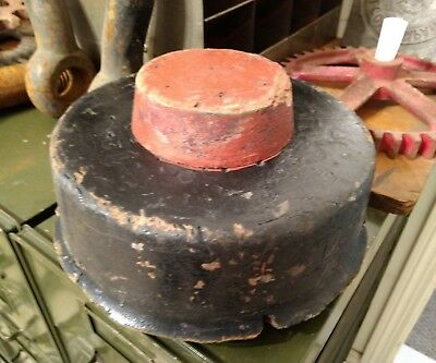Antique Machine Age Industrial Wood Foundry Mold Pattern Steampunk Black Paint