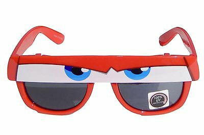 DISNEY CARS McQUEEN 100% UV Shatter Resistant Sunglasses w/ Flip-Up Visor  $12