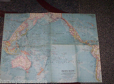 map - 1962 - PACIFIC OCEAN - National Geographics