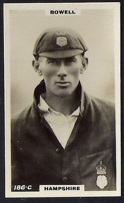 PHILLIPS-CRICKET ERS BROWN BACK F192-#186c- HAMPSHIRE - BOWELL