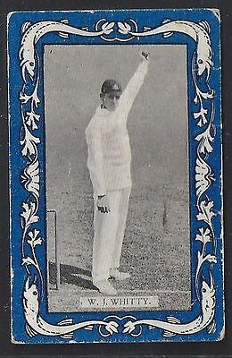 Wills-Australian/english Cricket-Blue Border Vice Regal-#25- Whitty