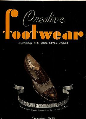 Creative Footwear, October 1939, Industry Magazine, Shoes