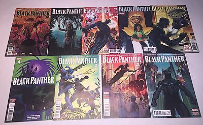 Black Panther (2016) 1 2 3 4 5 6 7 8 10 - 9 iss lot w/ variants Coates