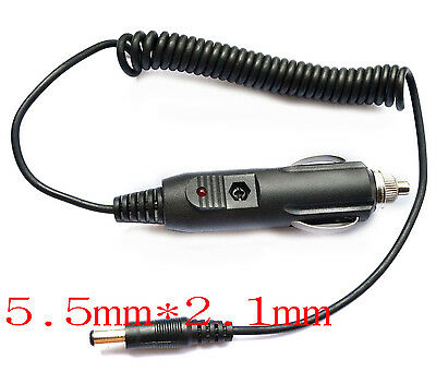 12V 1A  car charger Power adapter Cigarette Lighter 1.5M Cable 5.5mm × 2.1mm