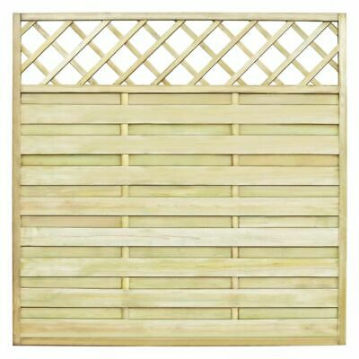 Square Garden Fence Panel with Trellis 180x180 cm Piood Green Impregnated